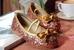 SEQUIN POPULAR SHOES GOLD PINK