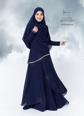 Jubah Ammara For Her (Dark Blue)