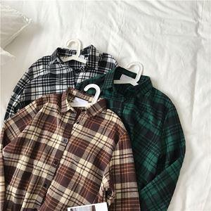 Retro Casual Plaid Shirt