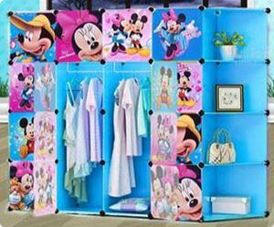 16CUBE WARDROBE + CONNER SHELFr (mickey and minnie)