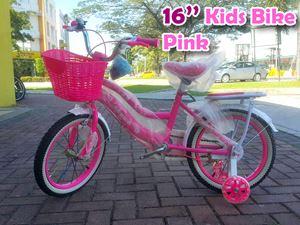 """16"""" Kids Bicycle Pink (5-12 year) (semi pasang)"""