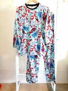 SIZE XL - 2XL DEWASA   Pyjamas FROZEN II Mint Green