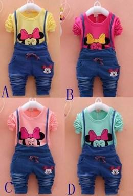 Minnie Mouse Shirt + Jumpsuit Set