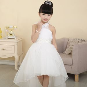 Girls Princess Wedding Party Pageant Tulle Dresses White