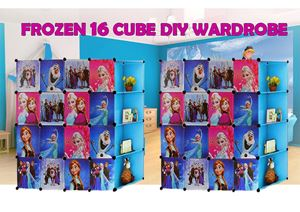 Frozen Blue 16C DIY Cube w Corner Rack (FZ16CB)