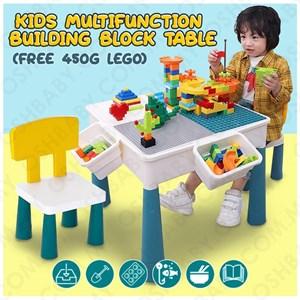 Kids Multifunction Building Block Table