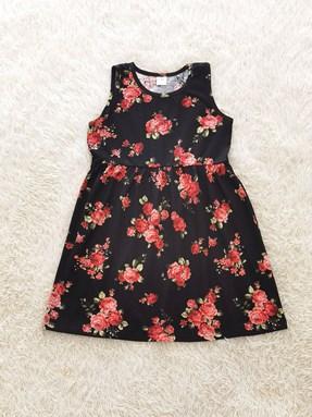 Kids Dress ROSE BLACK : (1y - 6y) TW