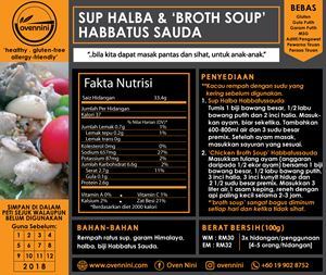 Sup Halba - Broth Soup Habbatus Sauda
