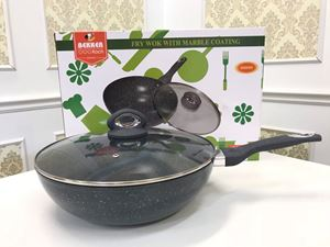 THE BEKKER GERMANY FRY WOK 34CM WITH GLASS LID