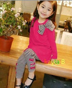 G017/14 KOREAN PINK WITH STRIPE PANT