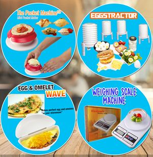 Weighing Machine + Pocket Machine + Eggstractor + Egg Omelet SET