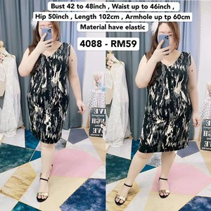 4088 * Ready Stock * Bust 42 to 48inch / 107 - 121cm