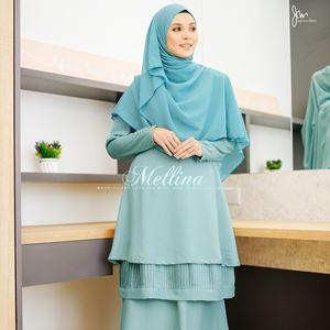 MELLINA STYLISH KURUNG 💕 (Forest Mint)