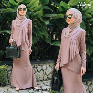 IRIS KURUNG DUSTY PURPLE
