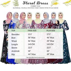 DRESS FLORAL 705#