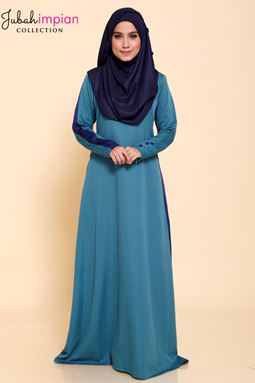 JUBAH MADEENA SPORTY ( Teal Green )