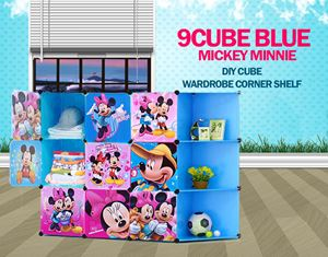 Mickey Minnie Blue 9C DIY Cube w Corner Rack (MC9CB)