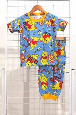 SIZE 2 - 10 KIDS Pyjamas POOH AND TIGGER SKY BLUE (HELAL)