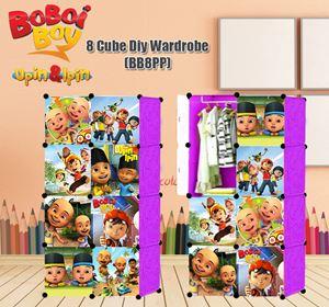Boboiboy & Upin Ipin PURPLE 8C DIY WARDROBE (BB8PP)