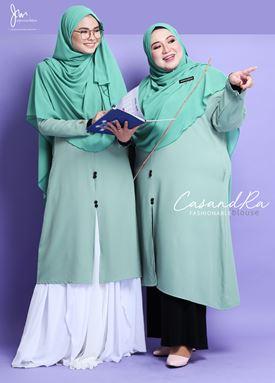 CASANDRA FASHIONABLE BLOUSE (Mint Green)