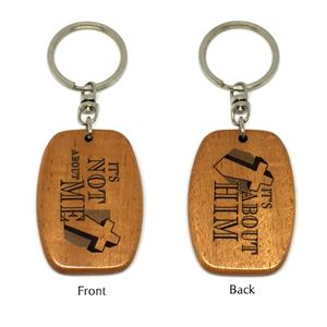 Wooden Oblong  Keychains