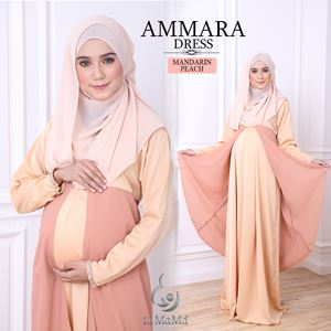 Ammara Dress : Mandarin Peach