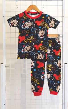 BABY 6M , 24M  Pyjamas MICKEY SMILE BLACK (HF)
