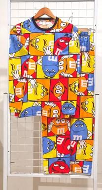 SIZE XL - 2XL DEWASA Pyjamas M&M COLORFUL CHECKERS (JR)