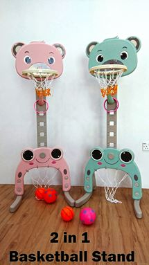 2 IN 1 BASKETBALL STAND