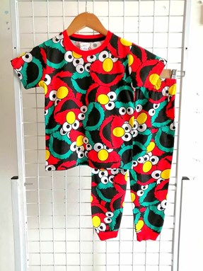 Pyjamas ELMO BLACK :  Big Size 12 -18