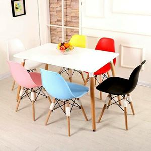 Nordic Scandinavian SQUARE Dining Table Eames Discussion