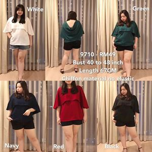 9710 Ready Stock *Bust 40 to 48 inch/ 101-121cm