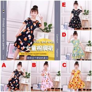 ORANGE GIRL DRESS ( SIZE 110-140 )