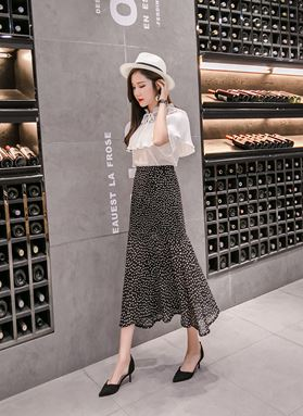 Fishtail Polka Dot Skirt