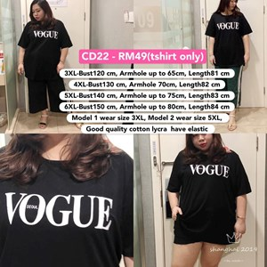 CD22 Ready Stock *Bust 47 to 59 inch/ 120-150cm
