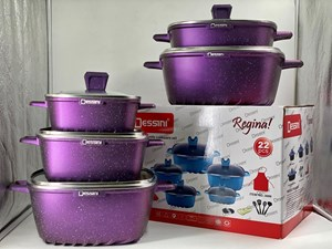 DESSINI 22PCS GRANITE -  DARK PURPLE