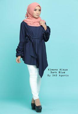 Kimono Wrap Aisya Dark Blue