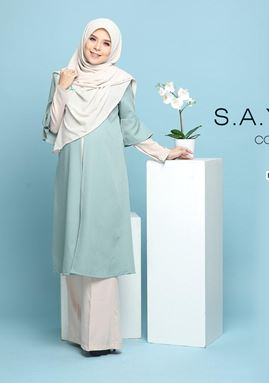 SAYANG LONG TOP ( Mint Green )