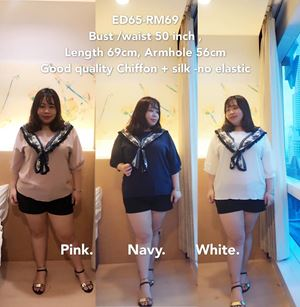ED65 *Ready Stock *Bust /waist fit 50 inch /127cm