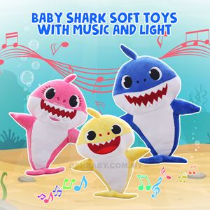 BABY SHARK SOFT TOYS WITH MUSIC AND LIGHT