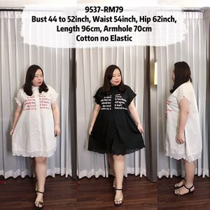 9537 Ready Stock *Bust 44 to 52 inch/ 111-132cm