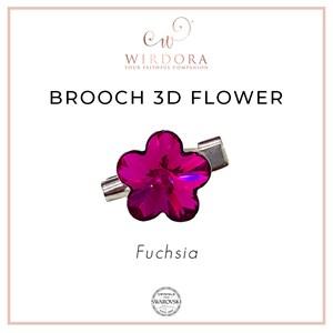 Brooch Fancy Flower Fuschia