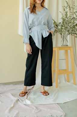 Rosalea Wide Legged Pants (Black)