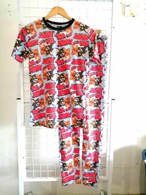 Pyjamas TOM AND JERRY SKY BLUE : Size DEWASA M- 4XL
