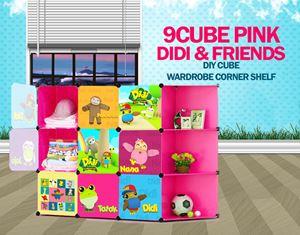 Didi & Friends Pink 9C DIY Cube w Corner Rack (DD9CP)