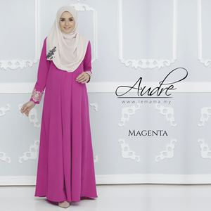 Audre Lacey Dress : Magenta