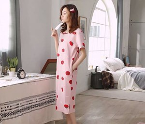 LADIES  PYJAMAS  PINK APPLE ( WITHOUT POUCH ) - SIZE M - 2XL