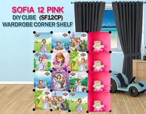 SOFIA PINK 12C DIY Wardrobe with Corner Shelf (SF12CP)