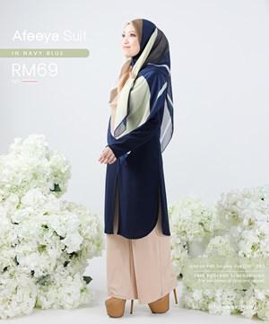 AFEEYA SUIT IN NAVY BLUE