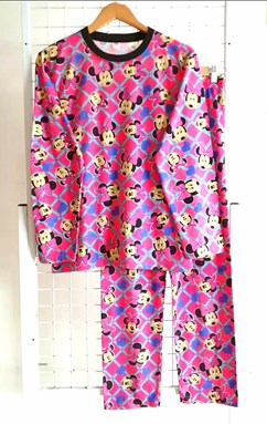 Pyjamas MINNIE BLUE LOVE PINK : Size DEWASA XL-3XL (IKIDS)